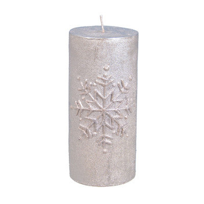 The Holiday Aisle Snowflake Pillar Candle Size: 6