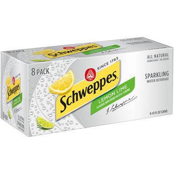 Schweppes Lemon Lime Sparkling Water Beverage, 12 Fl Oz Cans, 8 Pack