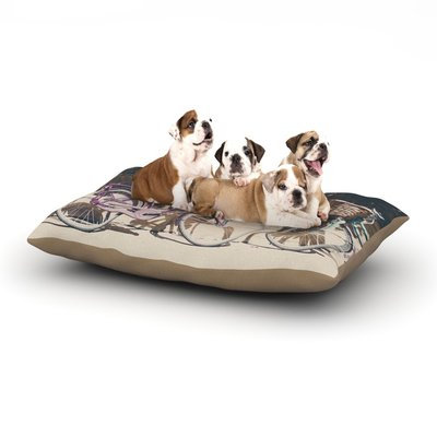 East Urban Home Laura Evans 'Pretty Bicycles' Dog Pillow with Fleece Cozy Top Size: Small (40
