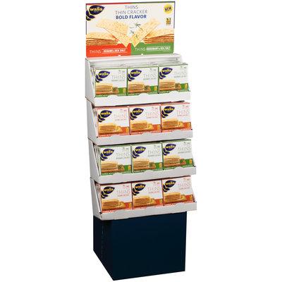 Wasa® Thins Rosemary & Sea Salt, Sesame & Sea Salt Flatbread 24-67 oz. Corrugated Display