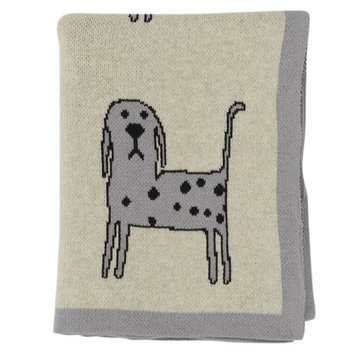 Darzzi Whiskers Baby Blanket Color: Light Gray/Natural Marled