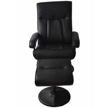Newacme Llc MCombo Reclining Massage Chair with Ottoman Upholstery: Black