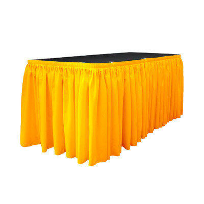 La Linen Table Skirt Color: Dark Yellow