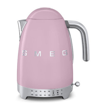 Smeg 50s Retro Style Aesthetic Pink Variable Temperature Electric Kettle