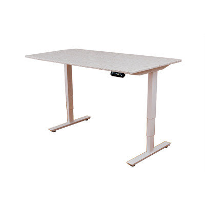 Ergomax Office Ergomax Electric Height Adjustable Sit-Stand Desk Dual Motor (White)