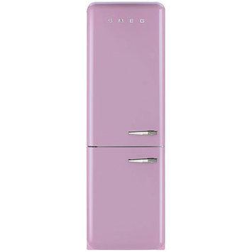 Smeg Pink 11.7 Cu. Ft. Retro Refrigerator with Bottom Freezer - Left Hinge