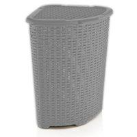 Superior Performance Brand Rattan 1.47 Bushel Corner Laundry Hamper
