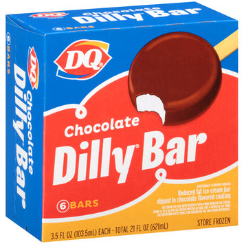 DQ® Chocolate Dilly® Ice Cream Bars 6–3.5 fl. oz. Box