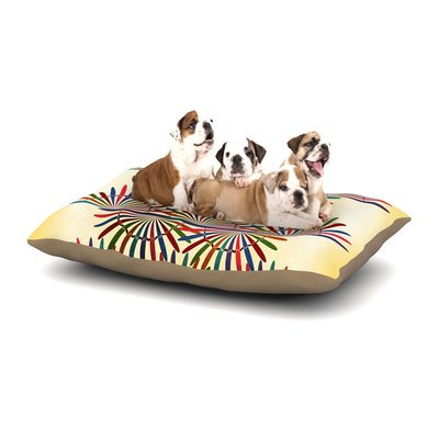 East Urban Home Famenxt 'Colorful Abstract' Dog Pillow with Fleece Cozy Top Size: Large (50