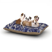 East Urban Home Gukuuki 'Iggy Palms' Dog Pillow with Fleece Cozy Top Size: Small (40