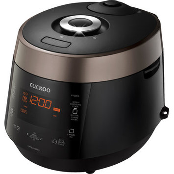 CUCKOO CRP-P1009SB Electric Pressure Rice Cooker, 10 cups, black, 110v