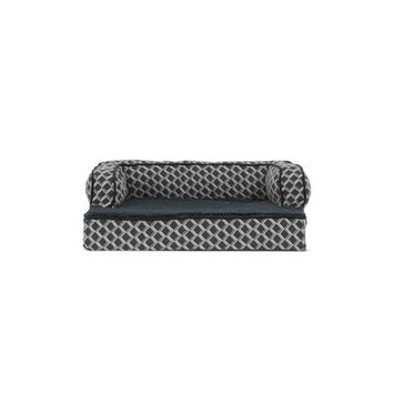 Zoey Tails Comfy Couch Orthopedic Dog Sofa Color: Diamond Gray, Size: 44