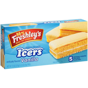 Mrs. Freshley's® Icers™ Vanilla Creme Filled Cakes 5-1.5 oz. Packages