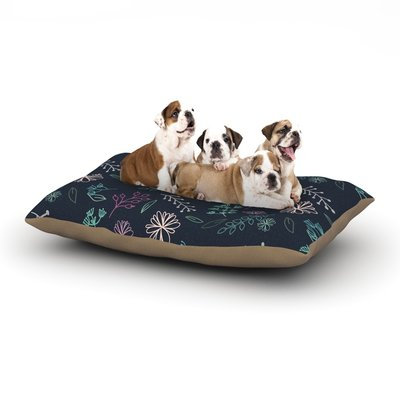 East Urban Home Louise 'Flower III' Dog Pillow with Fleece Cozy Top Size: Large (50