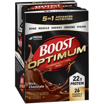 BOOST OPTIMUM Rich Chocolate Advanced Nutritional Drink 4-8 fl. oz. Bottles