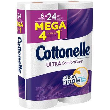 Cottonelle® Ultra ComfortCare® 2-Ply Toilet Paper Mega Rolls 6 ct Pack