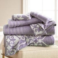 Alcott Hill Lattice Rod 6 Piece Towel Set Color: Grey Lavender