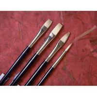 Princeton Artist Brush Chinese Bristle Filbert Brush (Set of 2) Size: 4