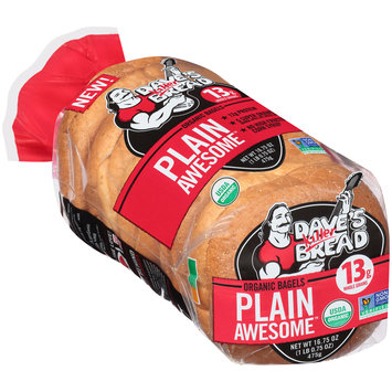 dave's killer bread® plain awesome™ organic bagels