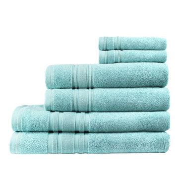 Melange Home Turkish Cotton Ensemble 6 Piece Towel Set Color: Reef Aqua