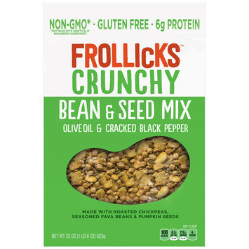 Frollicks™ Crunchy Olive Oil & Cracked Black Pepper Bean & Seed Mix 22 oz. Pouch