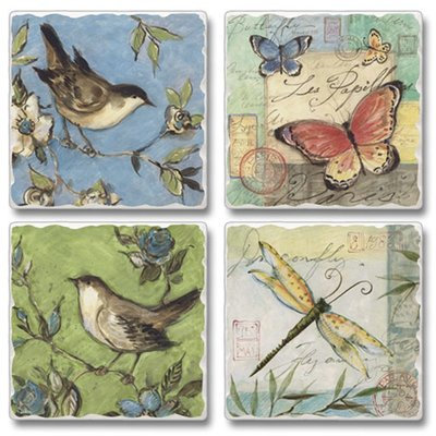 August Grove Nature Walk Birds, Butterflies and Dragonflies Stone Coaster