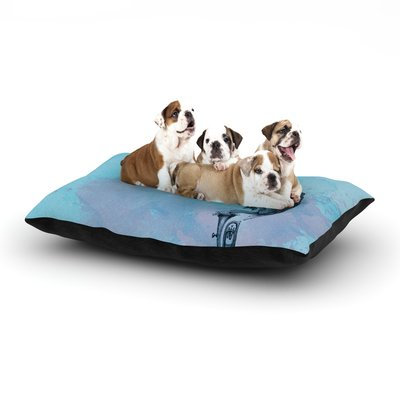 East Urban Home Graham Curran 'Turtle Tuba II' Dog Pillow with Fleece Cozy Top Size: Large (50