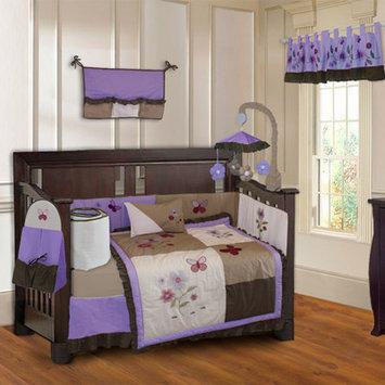 Babyfad Blossom Girls Boutique Baby 10 Piece Crib Bedding Set