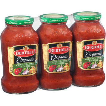 Bertolli® Organic Olive Oil, Basil & Garlic Sauce 3-24 oz. Jars