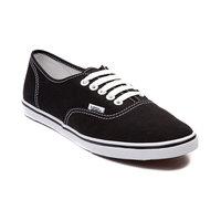 Vans Authentic Lo Pro Solid Shoe - Women's Black/True White, 7.0