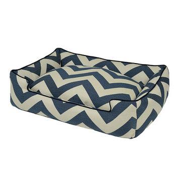 Jax And Bones Spellbound Premium Cotton Blend Lounge Bolster Dog Bed Color: Blue, Size: Extra Large - 48