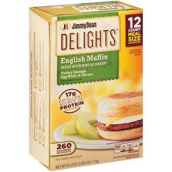 Jimmy Dean Delights® Turkey Sausage, Egg White & Cheese English Sandwiches