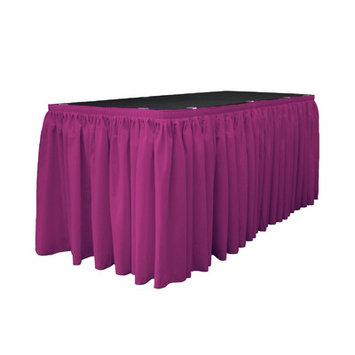 La Linen Table Skirt Color: Magenta