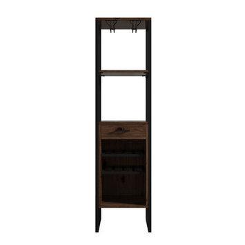 Mercury Row Delapaz 8 Bottle Floor Tower Wine Cabinet Finish: Brown