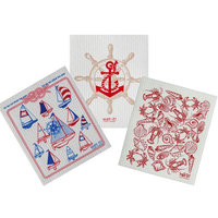 Longshore Tides 3 Piece Anchor Cleaning Dishcloth Set