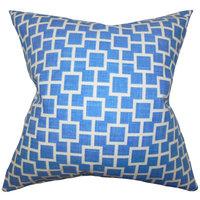 Jakayla Geometric Throw Pillow, 20 x 20, Blue