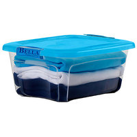 Bella Storage Solution Locking Lid Storage Box (Set of 6) Size: 12 Quart