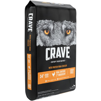 Crave™ with Protein from Chicken 1+ Years Premium Dog Food 25 lb. Bag
