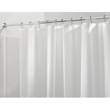 InterDesign Mildew-Free PEVA 3 Gauge Shower Liner, Long 72 x 84, Frost