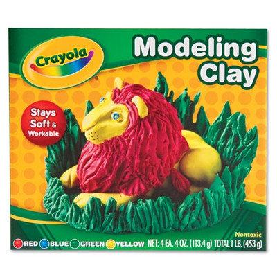 Crayola Modeling Clay Assortment, 1/4 Lb Each, 1 Lb (Set of 3)