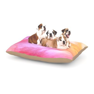 East Urban Home Heidi Jennings 'Pastel Haze' Dog Pillow with Fleece Cozy Top Size: Large (50