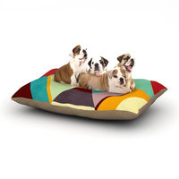 East Urban Home Danny Ivan 'Color Mess' Dog Pillow with Fleece Cozy Top Size: Large (50