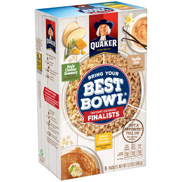 Quaker® Bring Your Best Bowl Instant Oatmeal Variety Pack