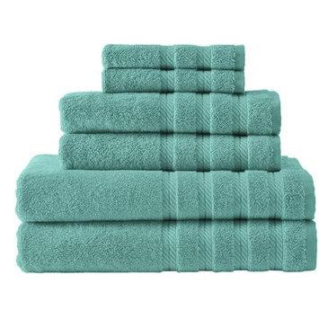 Makroteks Textile L.l.c. Antalya 6 Piece Towel Set Color: Pink