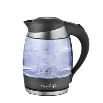 Infolist Corp. Megachef 1.8Lt. Glass and Stainless Steel Electric Tea Kettle, Specialty