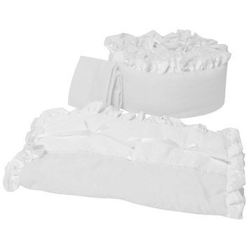 Babydoll Beddin Baby Doll Bedding Regal Port-a-Crib Bedding Set, White