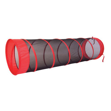 Pacific Play Tents The Fun Tube Tunnel Color: Red / Black