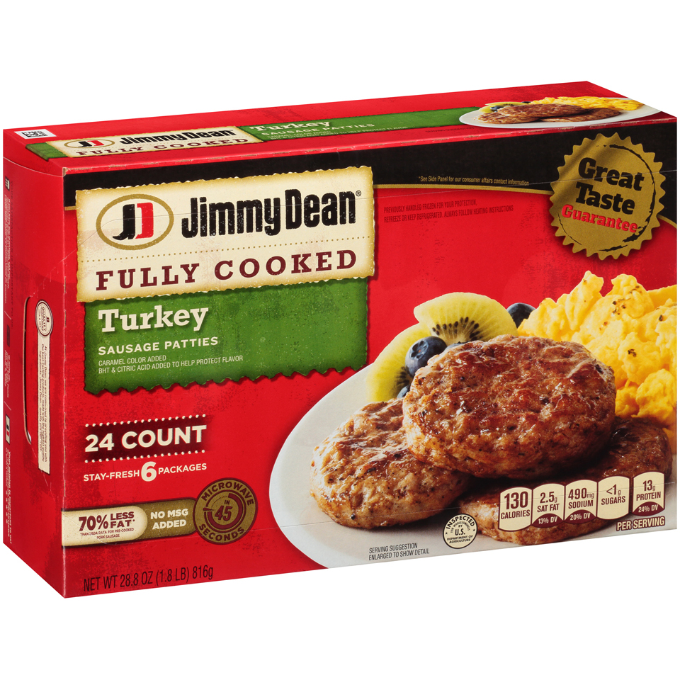 Jimmy Dean® Fully Cooked Turkey Sausage Patties