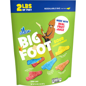allan big foot sour assortment gummy candy