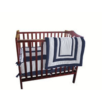Harriet Bee Bertie Hotel Style Portable Crib Bedding Set Color: Navy